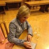 The march of technology: Signing a Kindle at Glasgow Library